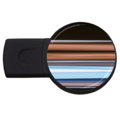 Color Screen Grinding USB Flash Drive Round (2 GB)