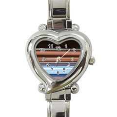 Color Screen Grinding Heart Italian Charm Watch