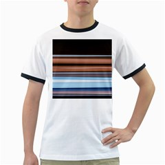 Color Screen Grinding Ringer T Shirts