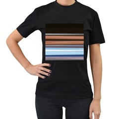 Color Screen Grinding Women s T-Shirt (Black) (Two Sided)