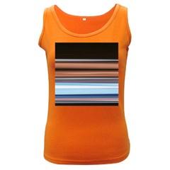 Color Screen Grinding Women s Dark Tank Top
