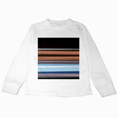 Color Screen Grinding Kids Long Sleeve T-Shirts