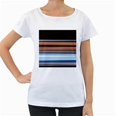 Color Screen Grinding Women s Loose-Fit T-Shirt (White)