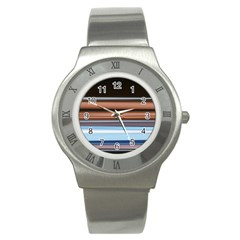 Color Screen Grinding Stainless Steel Watch