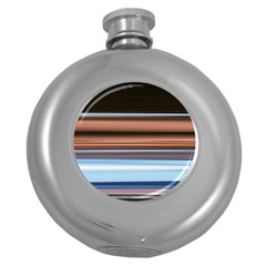 Color Screen Grinding Round Hip Flask (5 Oz)