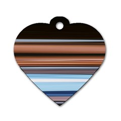 Color Screen Grinding Dog Tag Heart (One Side)