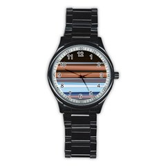 Color Screen Grinding Stainless Steel Round Watch