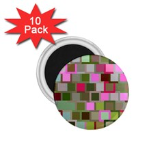 Color Square Tiles Random Effect 1.75  Magnets (10 pack)