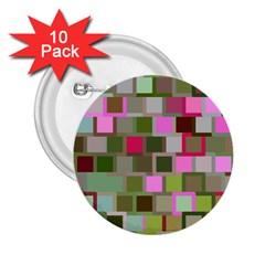 Color Square Tiles Random Effect 2 25  Buttons (10 Pack)