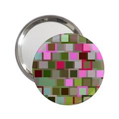 Color Square Tiles Random Effect 2 25  Handbag Mirrors