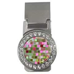 Color Square Tiles Random Effect Money Clips (CZ)