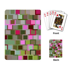 Color Square Tiles Random Effect Playing Card