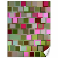 Color Square Tiles Random Effect Canvas 12  X 16