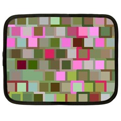Color Square Tiles Random Effect Netbook Case (Large)