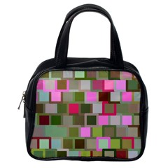 Color Square Tiles Random Effect Classic Handbags (one Side)