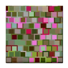 Color Square Tiles Random Effect Face Towel