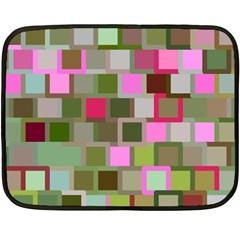 Color Square Tiles Random Effect Double Sided Fleece Blanket (Mini)
