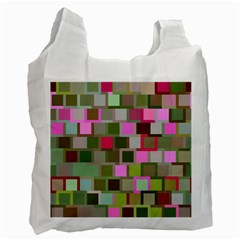 Color Square Tiles Random Effect Recycle Bag (one Side)