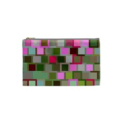 Color Square Tiles Random Effect Cosmetic Bag (small)