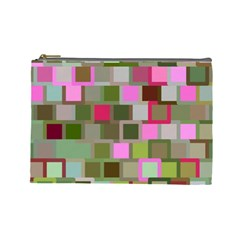 Color Square Tiles Random Effect Cosmetic Bag (large)