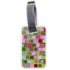 Color Square Tiles Random Effect Luggage Tags (one Side)