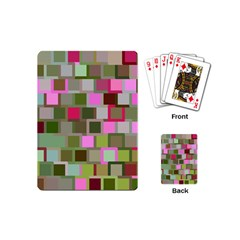 Color Square Tiles Random Effect Playing Cards (mini)