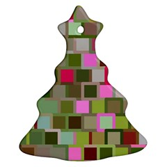 Color Square Tiles Random Effect Ornament (christmas Tree)