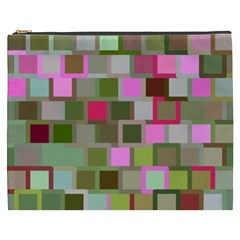Color Square Tiles Random Effect Cosmetic Bag (xxxl)