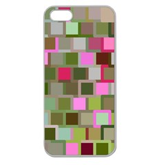 Color Square Tiles Random Effect Apple Seamless iPhone 5 Case (Clear)