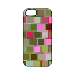 Color Square Tiles Random Effect Apple Iphone 5 Classic Hardshell Case (pc+silicone)