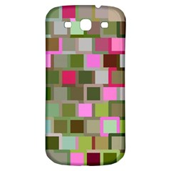 Color Square Tiles Random Effect Samsung Galaxy S3 S Iii Classic Hardshell Back Case