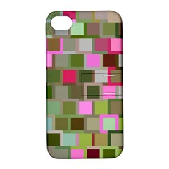 Color Square Tiles Random Effect Apple Iphone 4/4s Hardshell Case With Stand