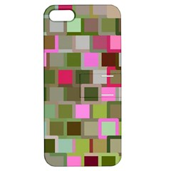 Color Square Tiles Random Effect Apple Iphone 5 Hardshell Case With Stand