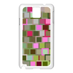 Color Square Tiles Random Effect Samsung Galaxy Note 3 N9005 Case (White)