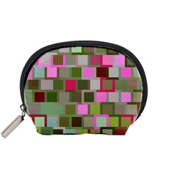 Color Square Tiles Random Effect Accessory Pouches (small)