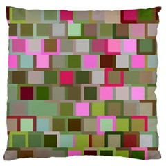 Color Square Tiles Random Effect Large Flano Cushion Case (one Side)