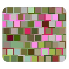 Color Square Tiles Random Effect Double Sided Flano Blanket (small)