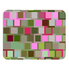 Color Square Tiles Random Effect Double Sided Flano Blanket (Large)