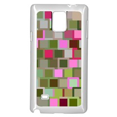 Color Square Tiles Random Effect Samsung Galaxy Note 4 Case (White)
