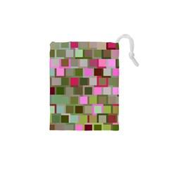 Color Square Tiles Random Effect Drawstring Pouches (XS)