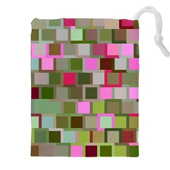 Color Square Tiles Random Effect Drawstring Pouches (xxl)