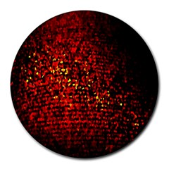 Red Particles Background Round Mousepads