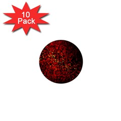Red Particles Background 1  Mini Magnet (10 Pack)
