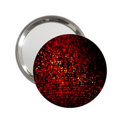 Red Particles Background 2.25  Handbag Mirrors