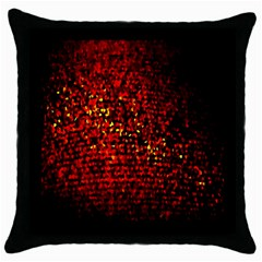 Red Particles Background Throw Pillow Case (Black)