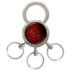 Red Particles Background 3 Ring Key Chains