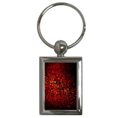Red Particles Background Key Chains (rectangle)