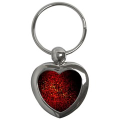 Red Particles Background Key Chains (Heart)