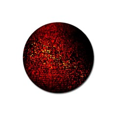 Red Particles Background Magnet 3  (Round)