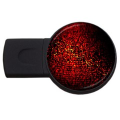 Red Particles Background USB Flash Drive Round (1 GB)